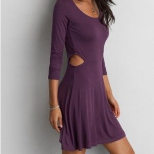 AE Soft & Sexy Side Cut Outs Skater Dress